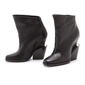 Theyskens' Theory Metal Detail Leather Booties